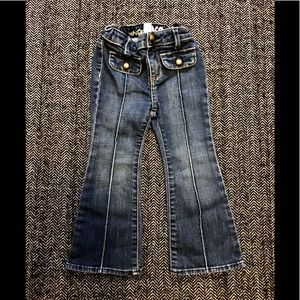 Gap bell bottom high waisted jeans size 2T